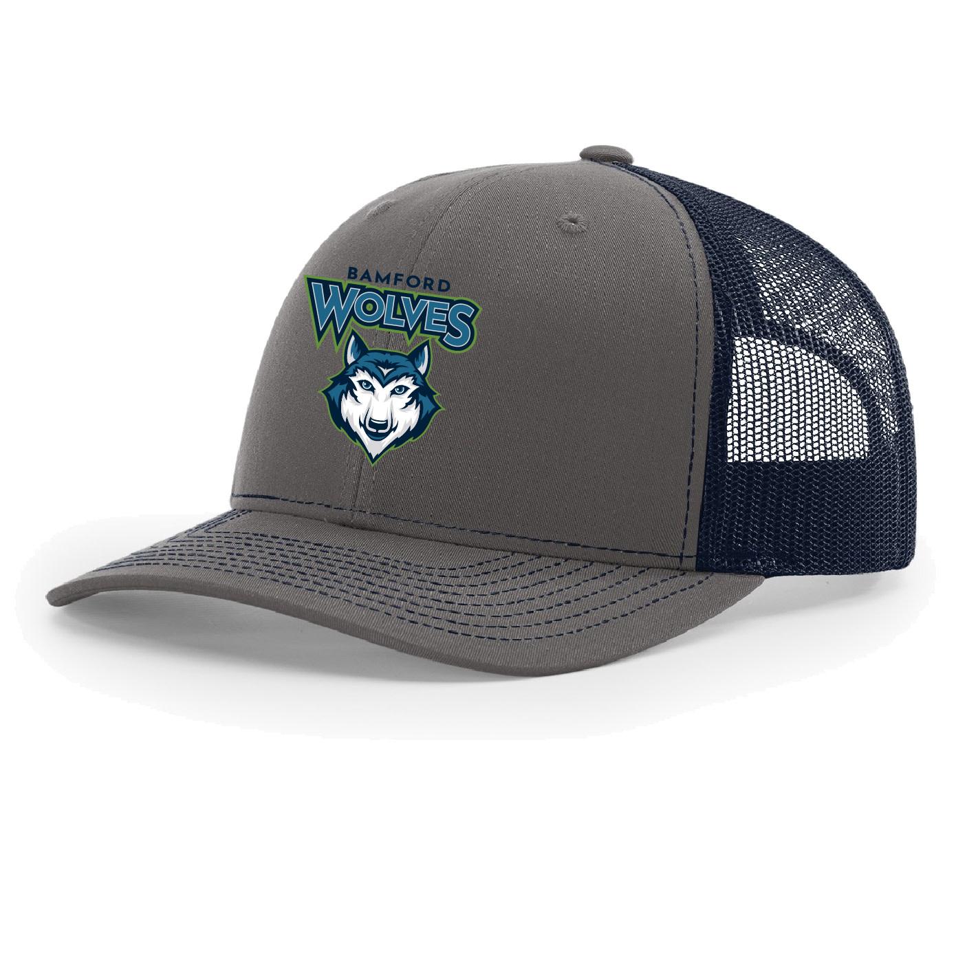 Richardson Port Authority  Snapback Trucker Hat (Charcoal/Navy)
