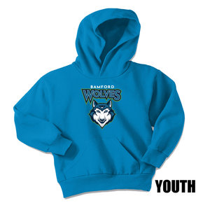 Port Authority Port & Company Youth Core Fleece Pullover Hooded Sweatshirt (Sapphire)