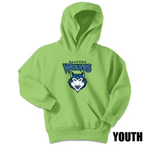 Port Authority Port & Company Youth Core Fleece Pullover Hooded Sweatshirt (Lime)