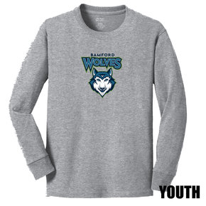 Port Authority Port & Company Youth Long Sleeve Core Cotton Tee (Athletic Heather)