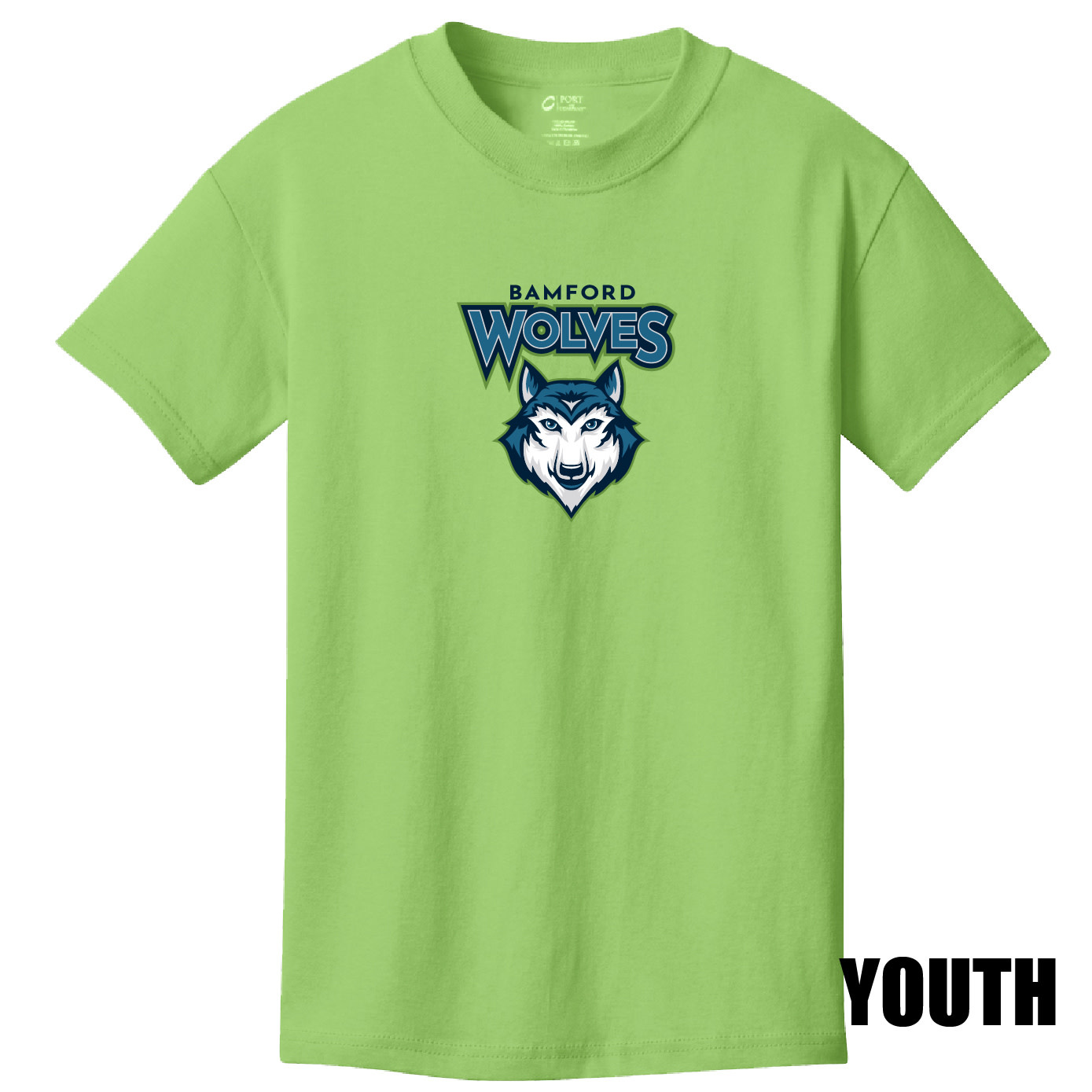 Port Authority Port & Company Youth Core Cotton Tee (Lime)