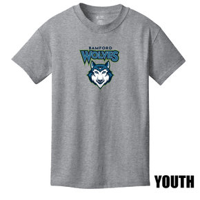 Port Authority Port & Company Youth Core Cotton Tee (Athletic Heather)