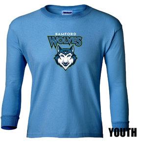 Gildan Gildan Ultra Cotton Youth Long Sleeve T-Shirt (Sapphire)