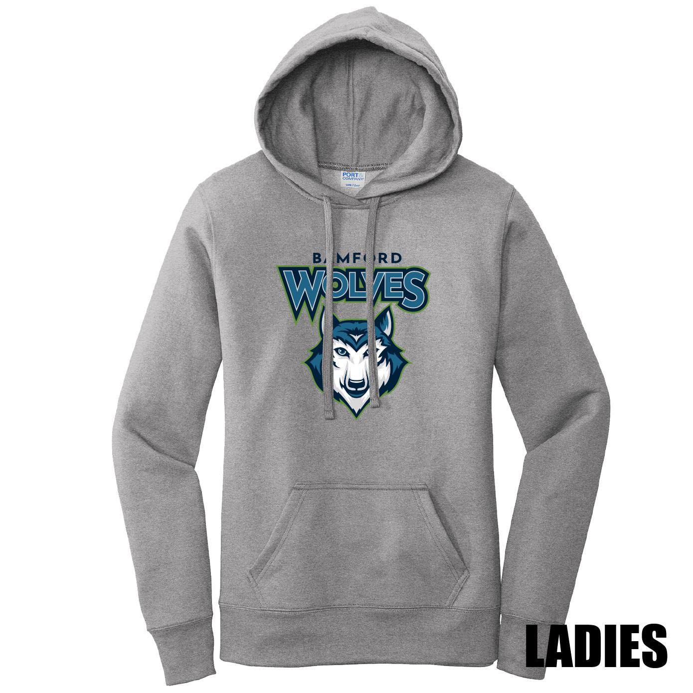 Port Authority Port & Company Ladies Core Fleece Pullover Hooded Sweatshirt (Athletic Heather)