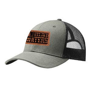 Port Authority Snapback Trucker Cap (Heather Grey/Black)