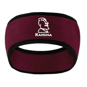 Port Authority Port Authority Two-Color Fleece Headband (Maroon)