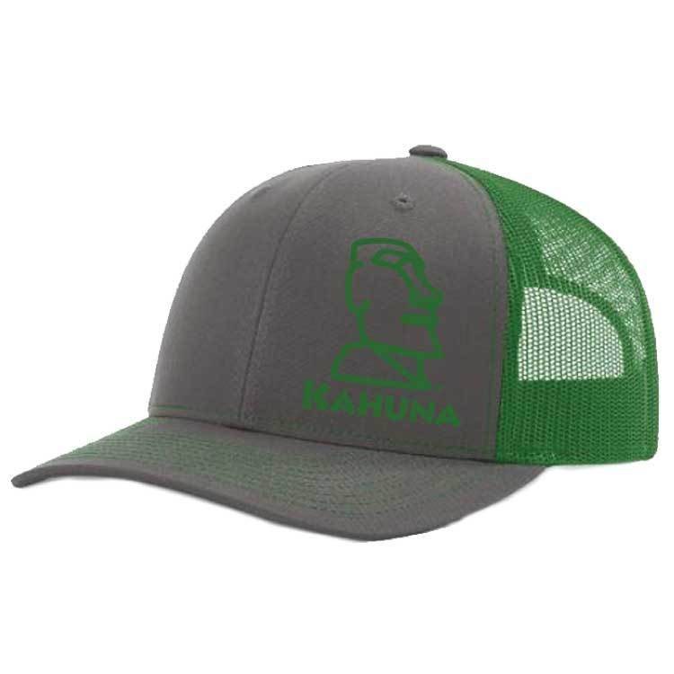 Richardson Richardson Twill Mesh Snapback Hat  ( Charcoal/Kelly Green)