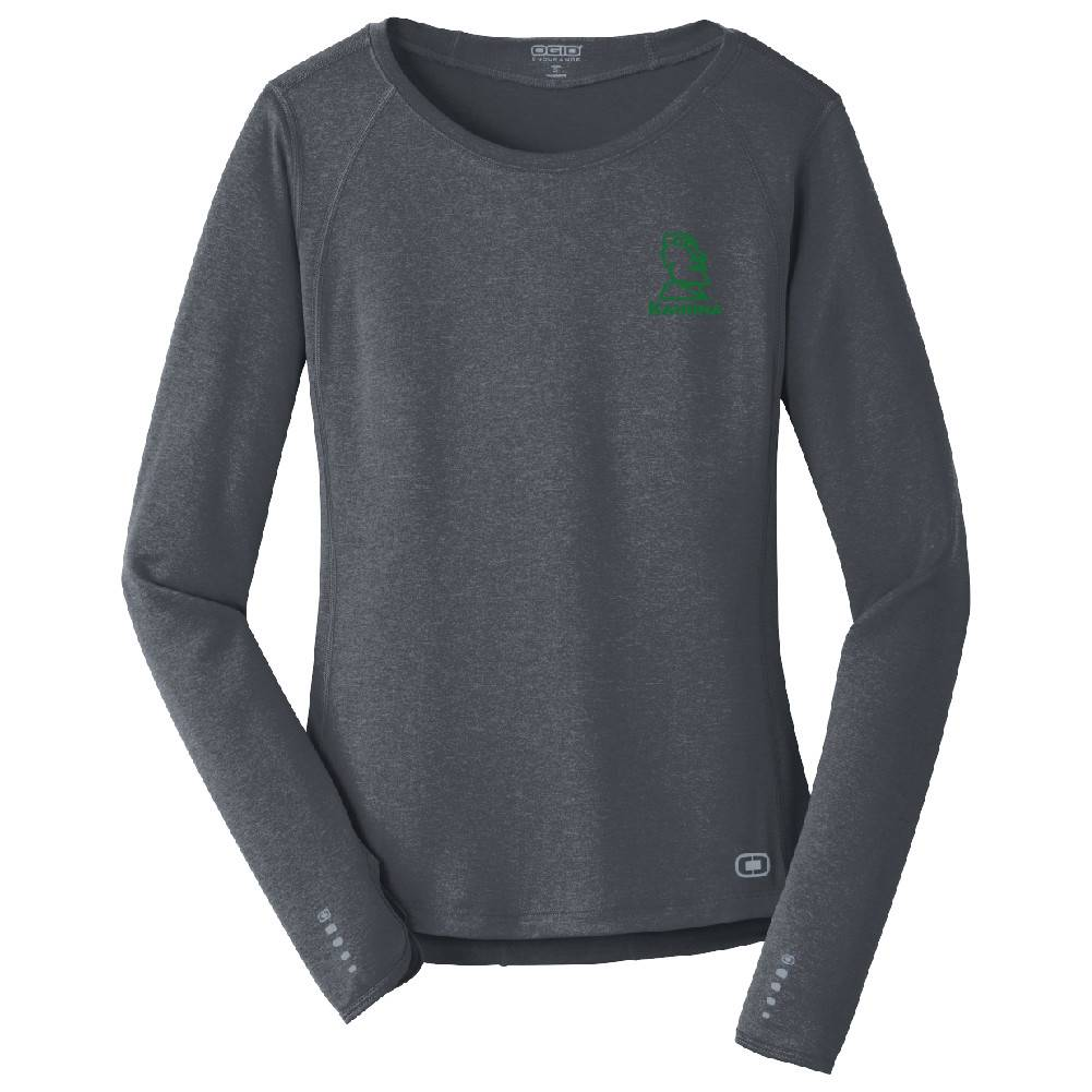 Ogio OGIO® ENDURANCE Ladies Long Sleeve Pulse Crew ( Gear Grey )
