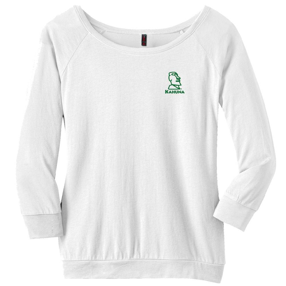 District Made District Made® - Ladies Modal Blend 3/4-Sleeve Raglan ( White)
