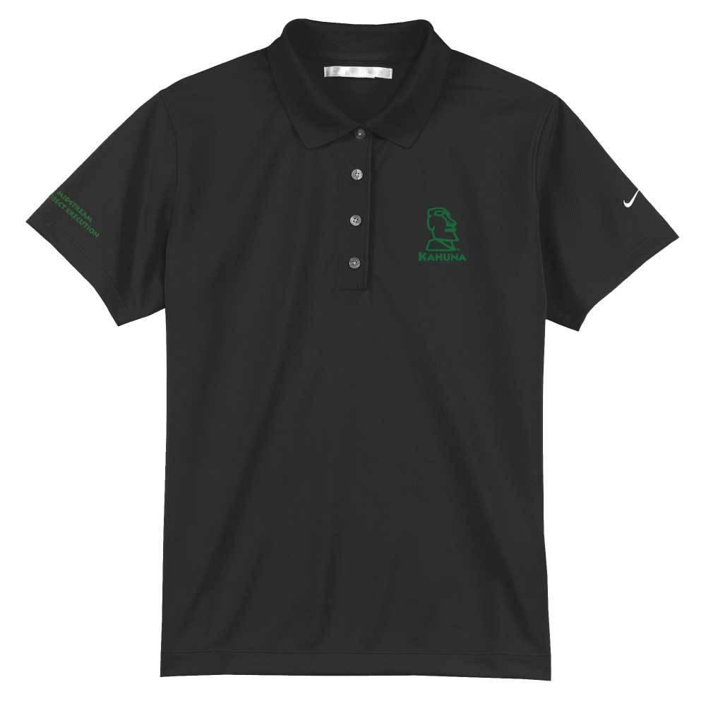 Nike Nike Golf - Ladies Tech Basic Dri-FIT Polo (Black w/green logo)