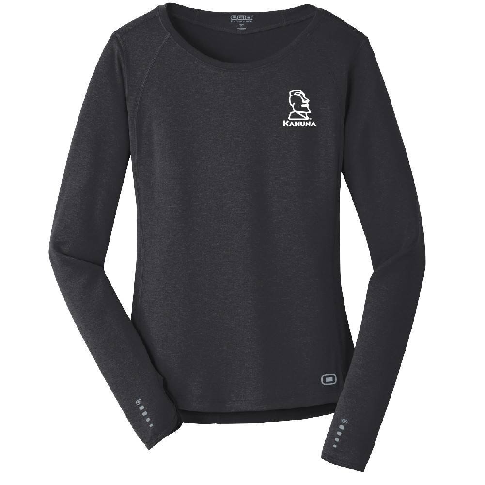 Ogio OGIO® ENDURANCE Ladies Long Sleeve Pulse Crew (Blacktop)