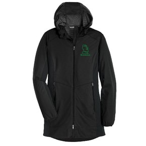 Port Authority Port Authority® Ladies Active Hooded Soft Shell Jacket ( Deep Black)