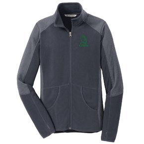 Port Authority Port Authority® Ladies Colorblock Microfleece Jacket ( Battleship Grey)
