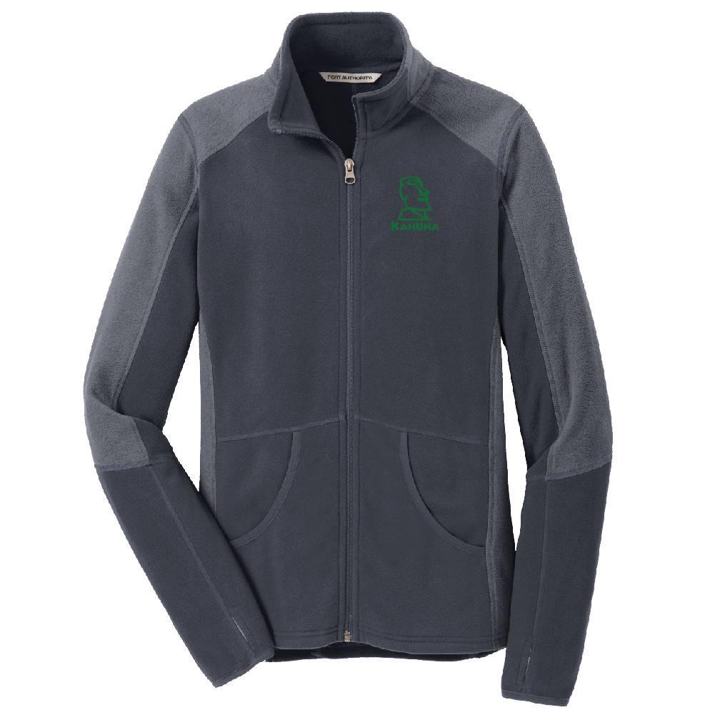 Port Authority Port Authority® Ladies Colorblock Microfleece Jacket ( Battleship Grey)