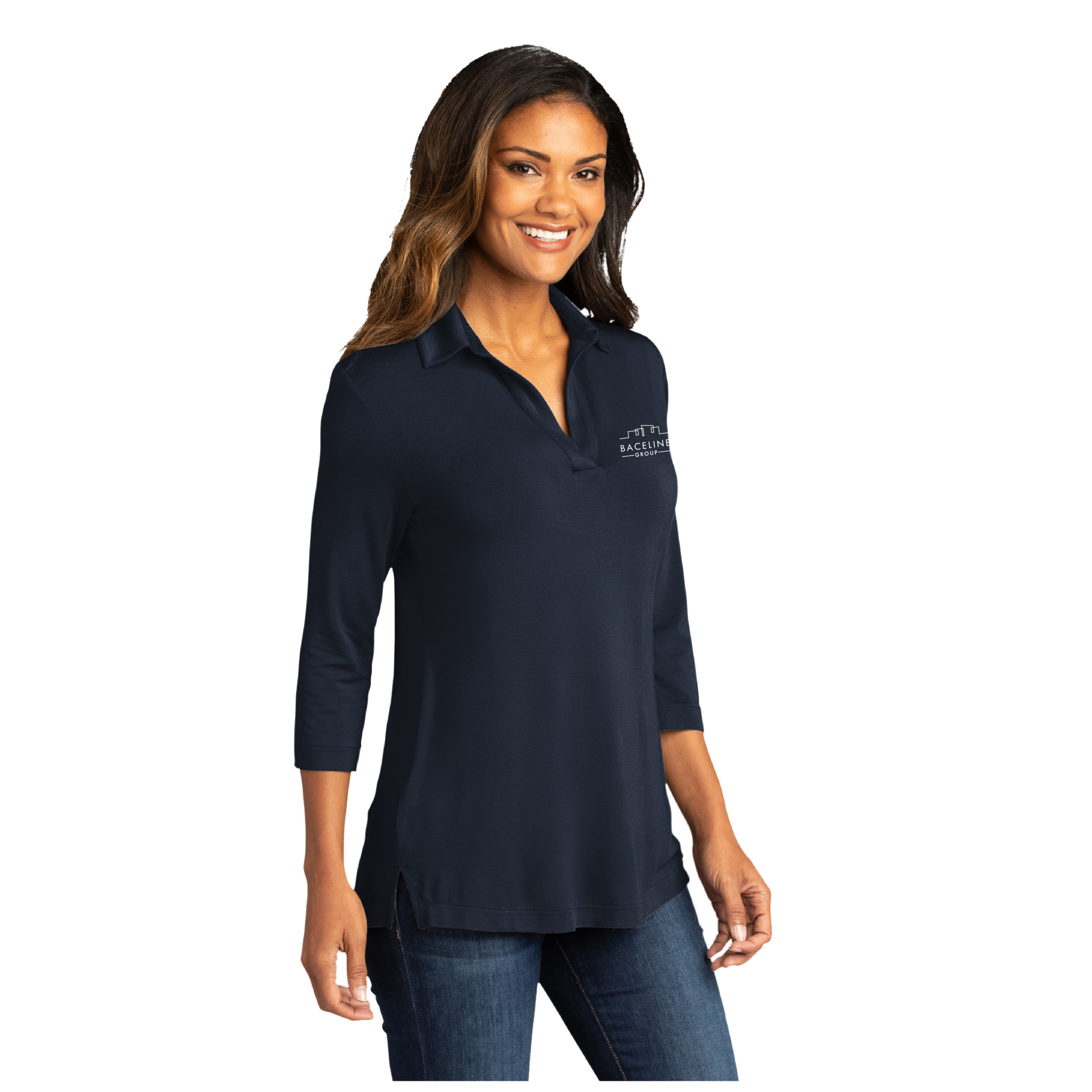 Port Authority Port Authority Ladies Luxe Knit Tunic (River Blue Navy)