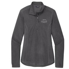 Eddie Bauer Eddie Bauer Ladies 1/2-Zip Microfleece Jacket (Grey Steel)