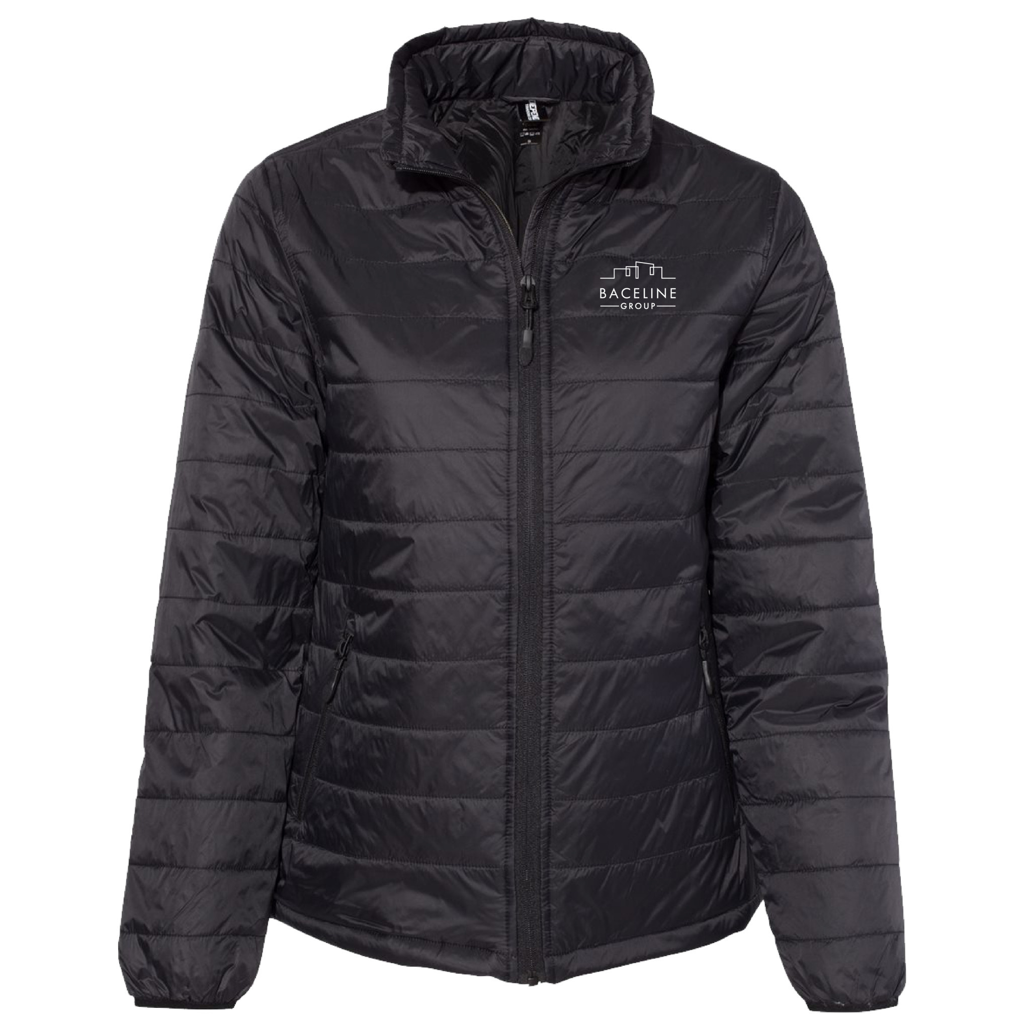 Independent Trading Co. Women's Puffer Jacket (Black)