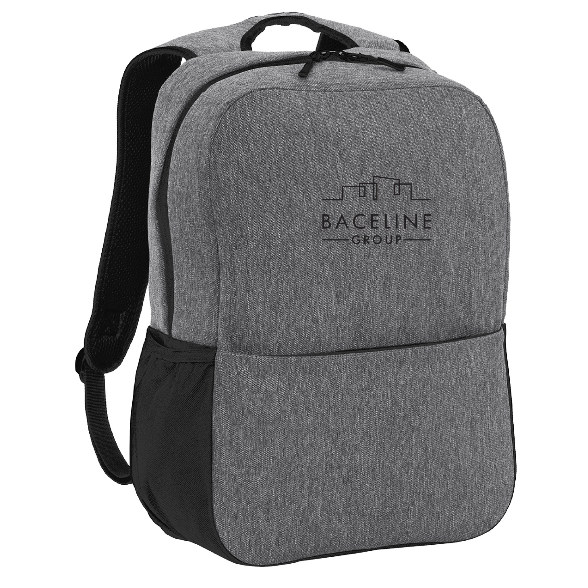 Port Authority Port Authority  Access Square Backpack (Heather Grey/Black)