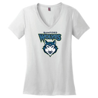 District Made District Women's Perfect Weight V-Neck Tee (White)