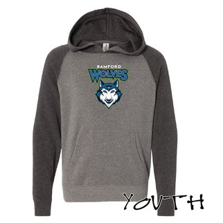 Independent Trading Co. Youth Special Blend Raglan Hooded Sweatshirt (Nickle/Carbon)