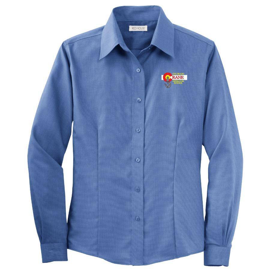 Red House Red House Ladies Button Shirt (Mediterrian Blue)