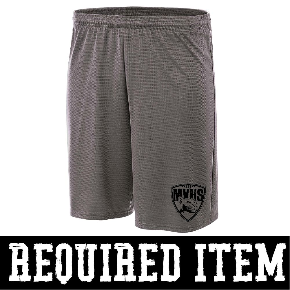 "A4 9"" Cooling Performance Short (Dark Grey)"
