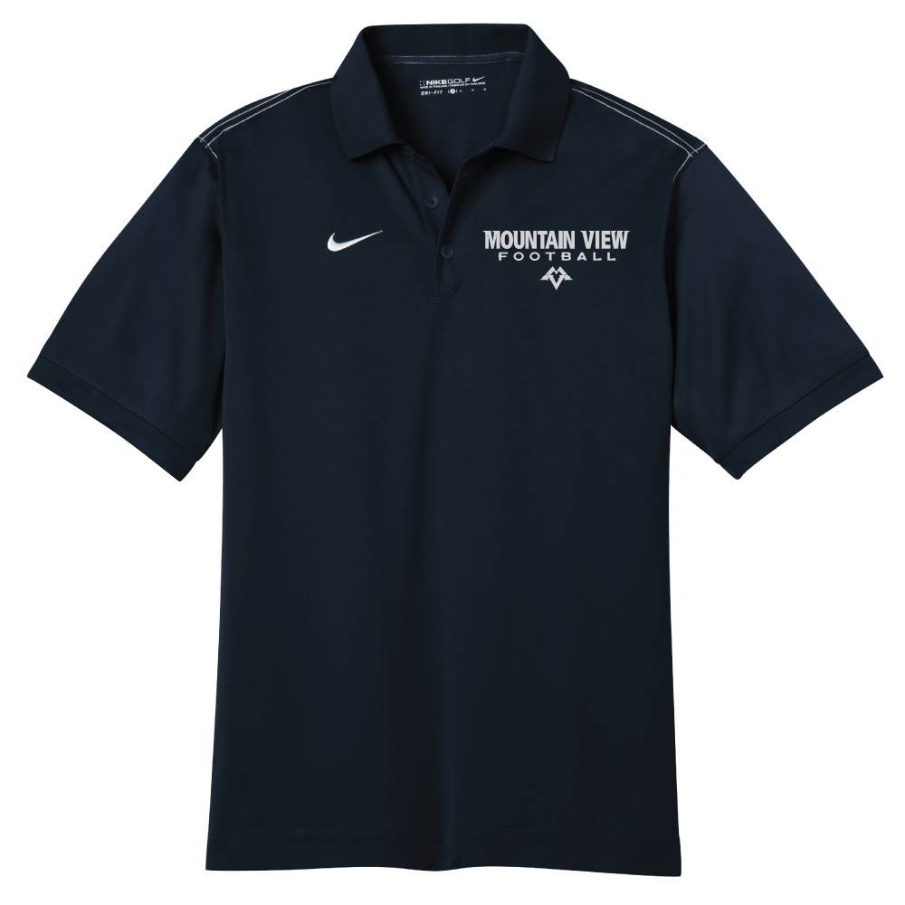 Nike Nike Golf Dri-Fit Sport Swoosh Pique Polo (Black)