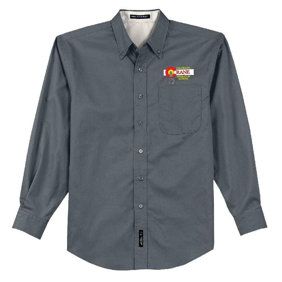 Port Authority Port Authority Long Sleeve Easy Care Shirt (Steel Grey/Lightstone)