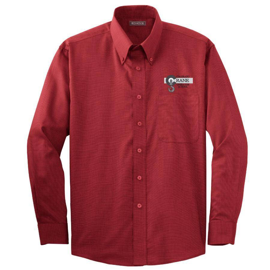 Red House Red House Nailhead Non Iron Shirt (Red)