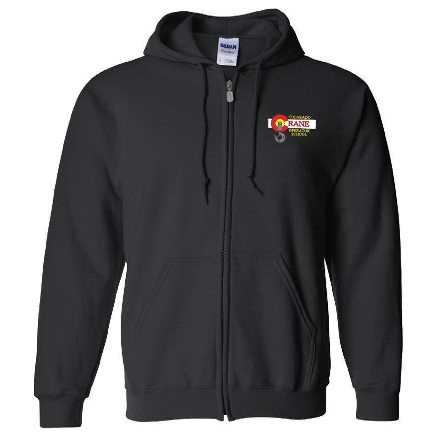 Gildan Gildan Adult Heavy Blend 50/50 Full-Zip Hoody (Black)