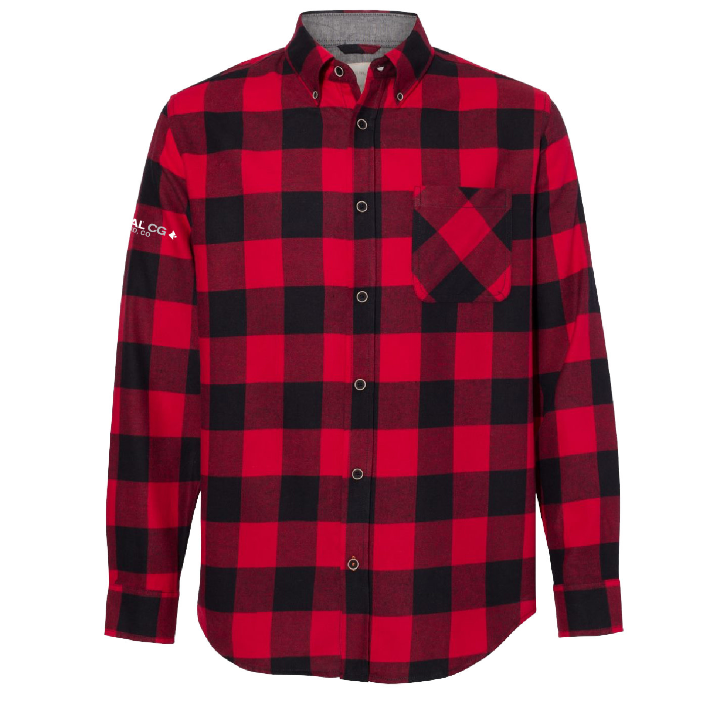 Weatherproof Weatherproof Vintage Brushed Flannel Long Sleeve Shirt (Crimson/Black)
