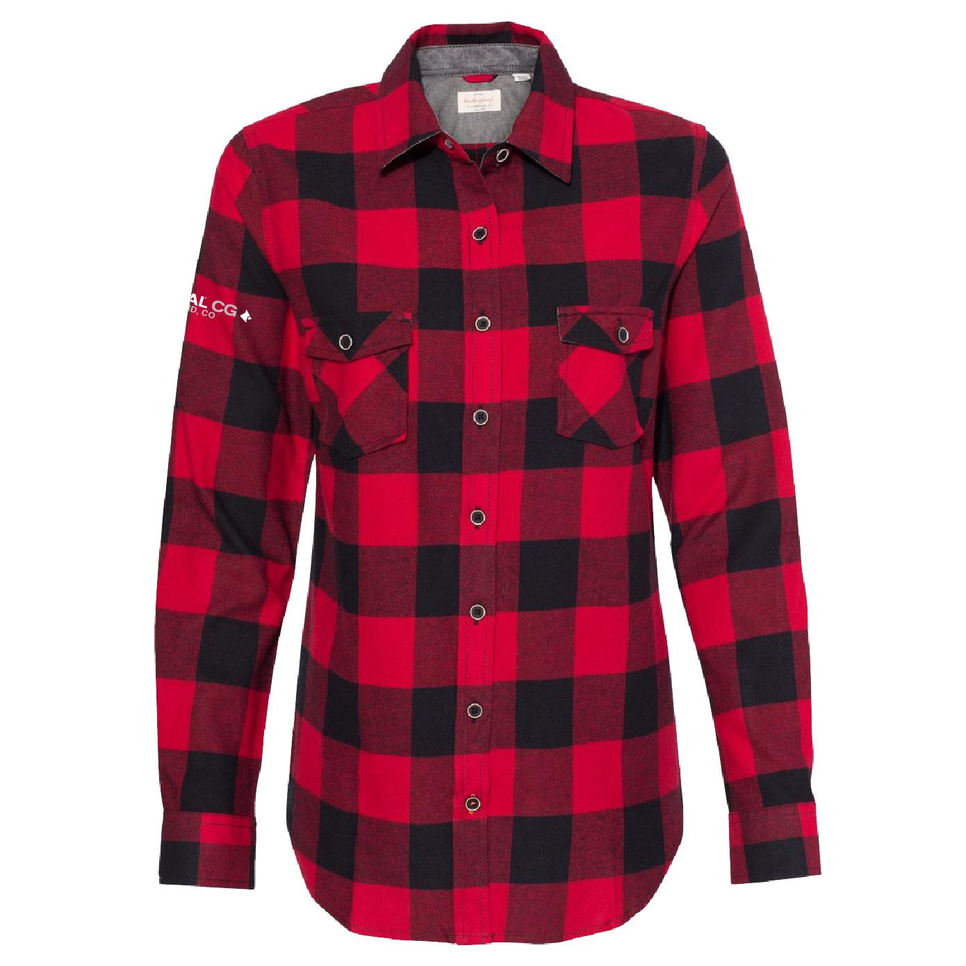Weatherproof Weatherproof  Women's Vintage Brushed Flannel Long Sleeve Shirt (Crimson/Black)
