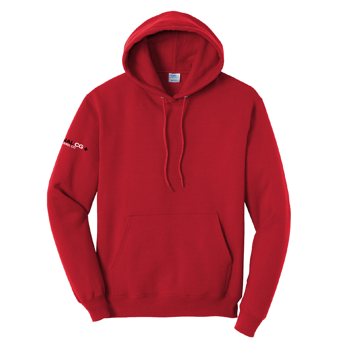 Port Authority Port & Company Tall Core Fleece Pullover Hooded Sweatshirt (Red)