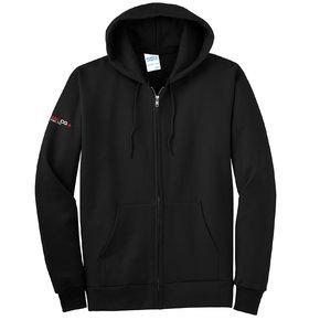 Port Authority Port & Company Essential Fleece Full-Zip Hooded Sweatshirt (Jet Black)