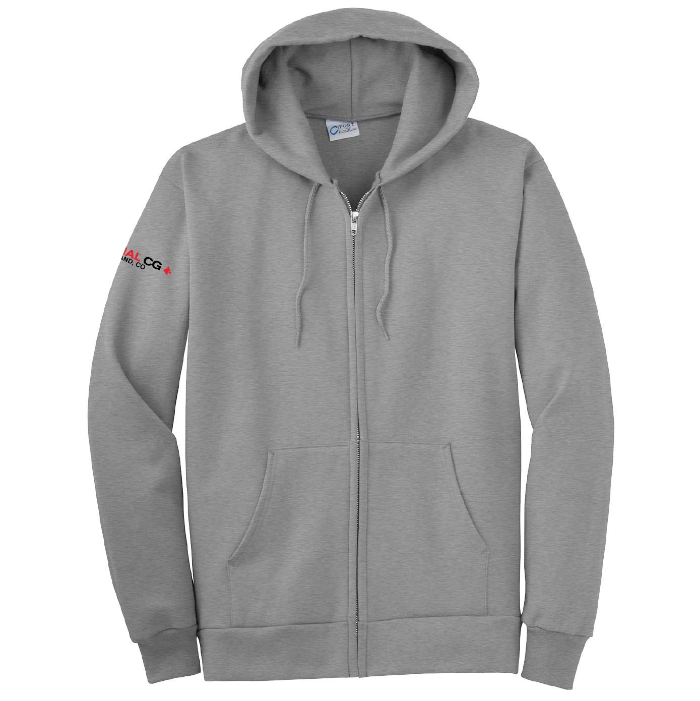 Port Authority Port & Company Essential Fleece Full-Zip Hooded Sweatshirt (Athletic Heather)