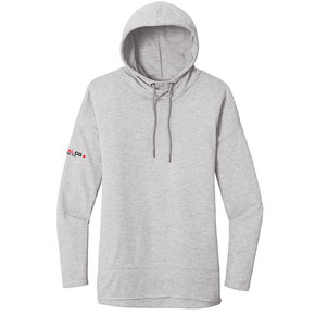 District Made District  Women's Featherweight French Terry Hoodie (Light Heather Grey)
