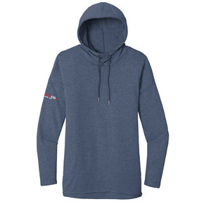 District Made District  Women's Featherweight French Terry Hoodie (Washed Indigo)