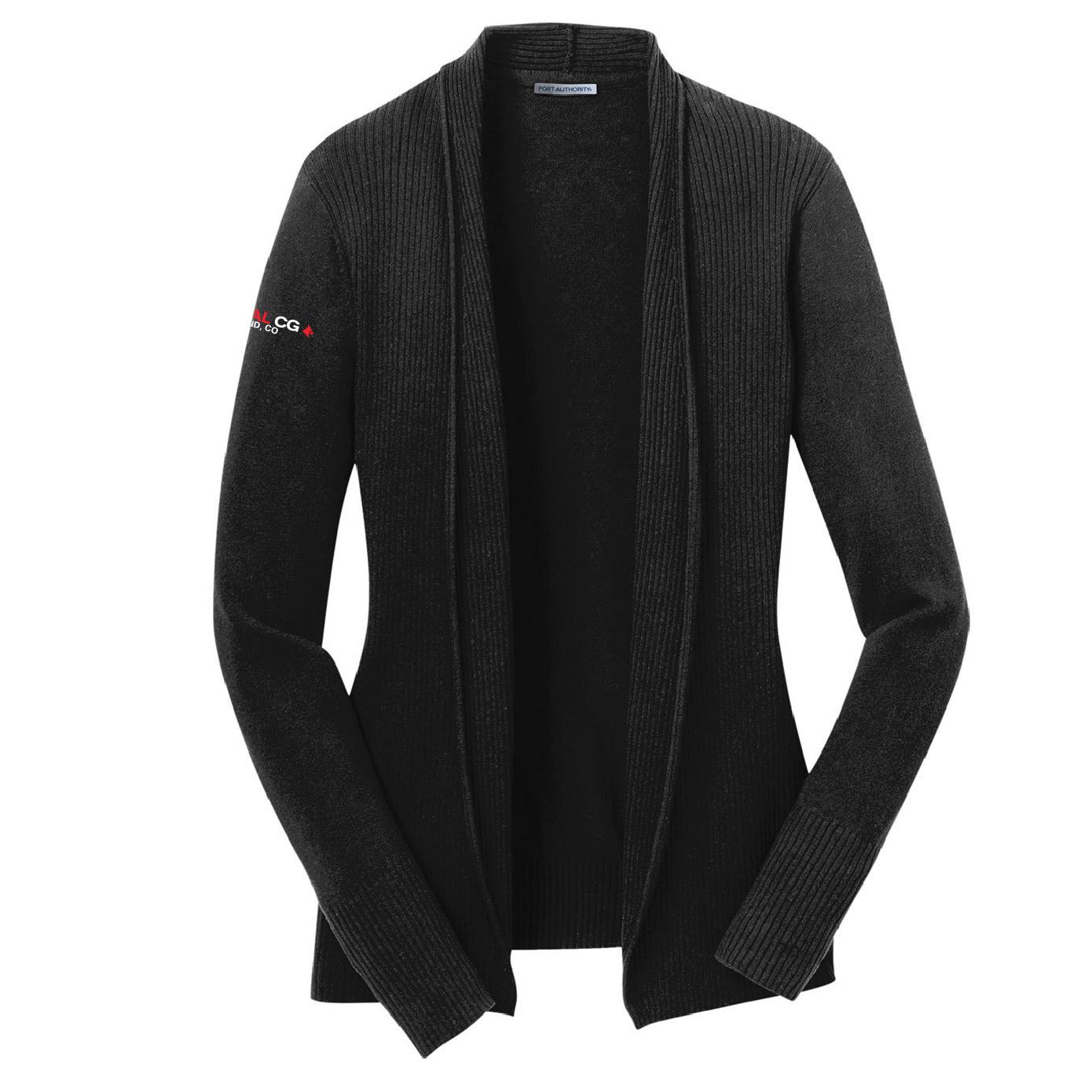 Port Authority Port Authority Ladies Open Front Cardigan Sweater (Black)