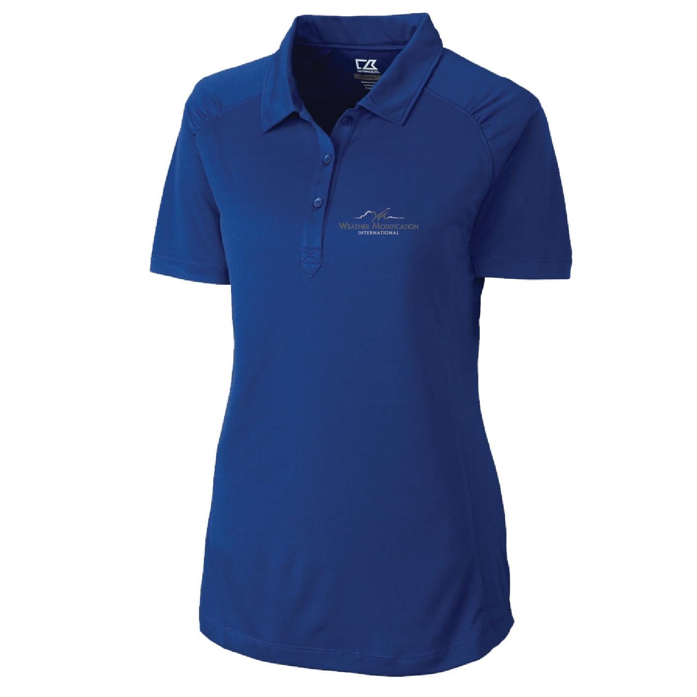 Weatherproof Cutter & Buck Northgate CB DryTec Short Sleeve Womens Polo (Tour Blue)