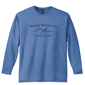 District Made District  Perfect Weight  Long Sleeve Tee (Maritime Blue)
