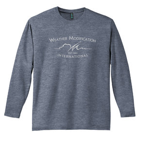 District Made District  Perfect Weight  Long Sleeve Tee (Heathered Navy)