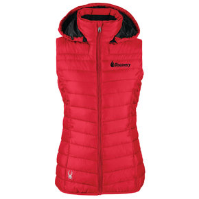 Spyder Ladies Supreme Puffer Vest (Red)