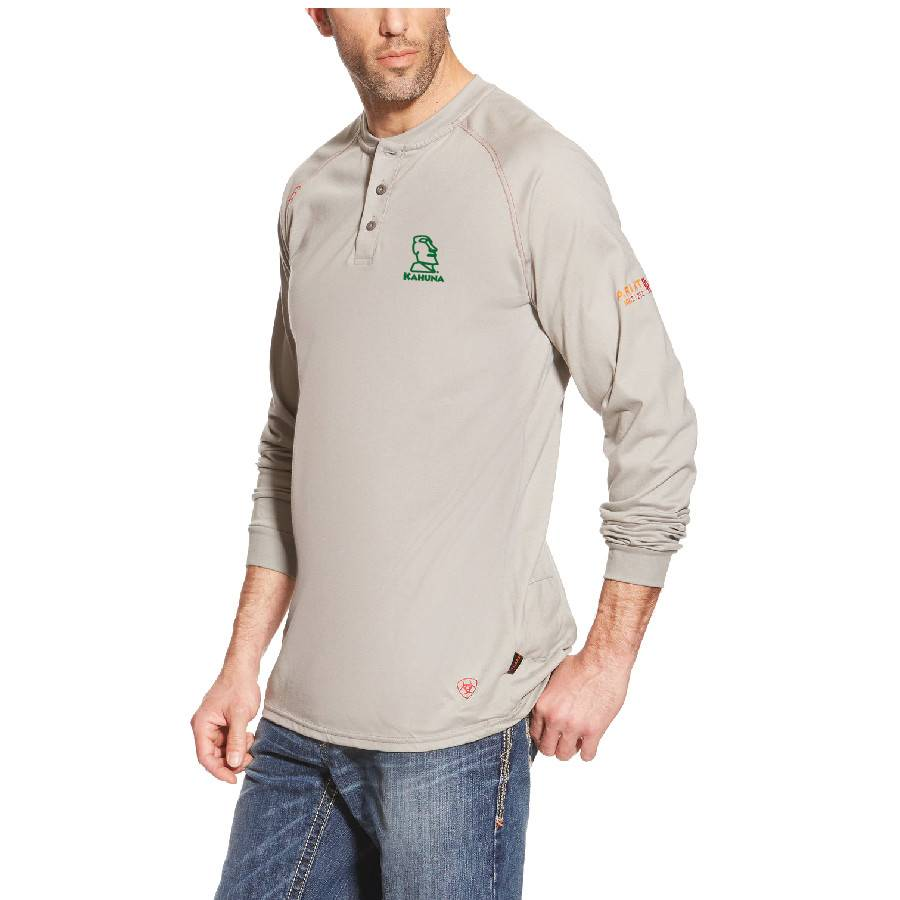Ariat Ariat Fr Work Henley Ls ( Silver Fox)