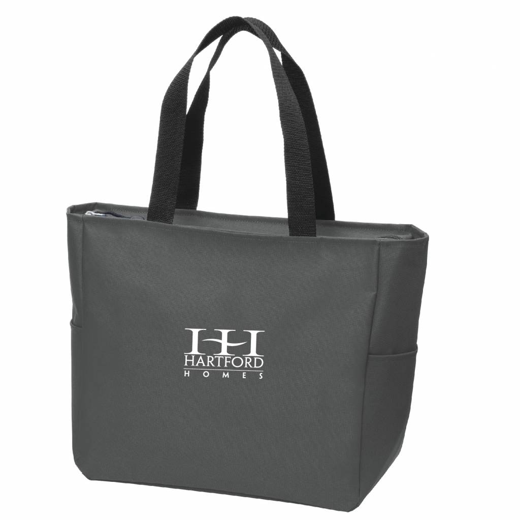 Sanmar Port Authority® Essential Zip Tote (Dark Charcoal)