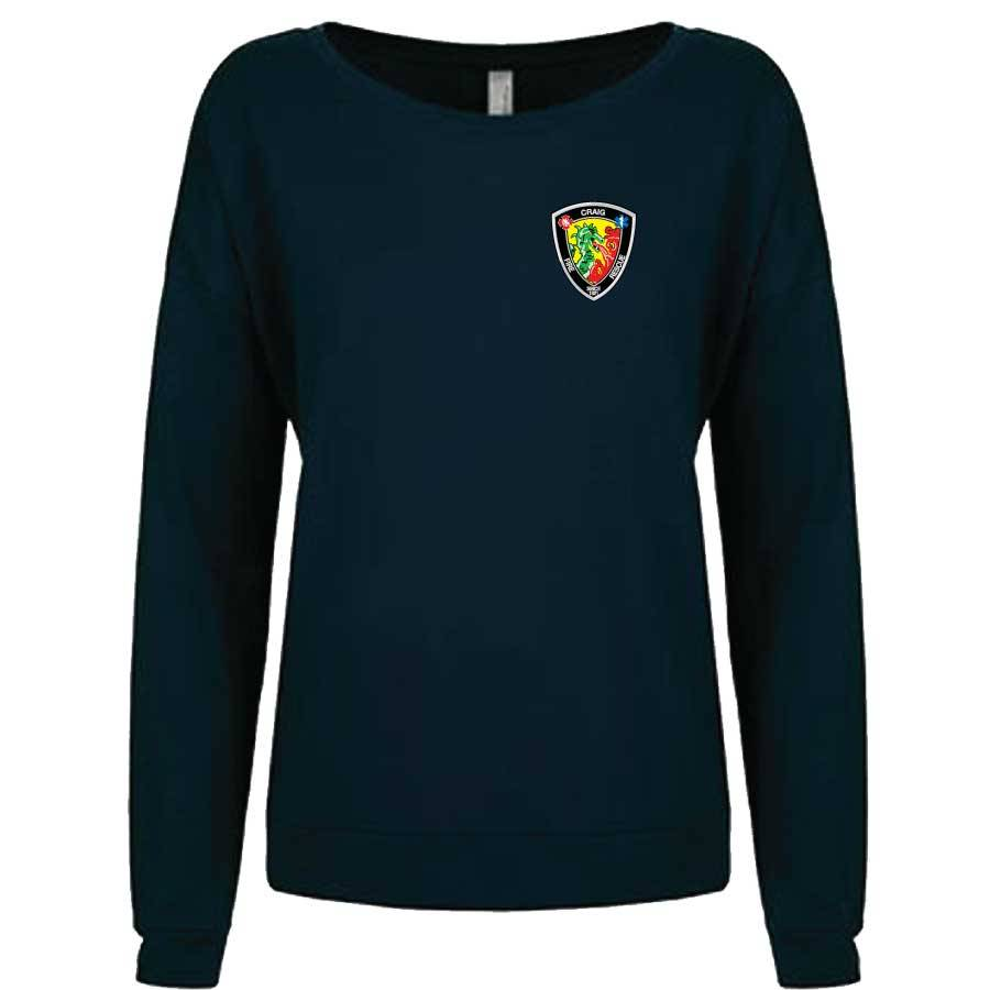 Next Level Women's French Terry L/S Scoop (Navy)