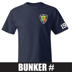 Hanes Hanes® Beefy-T® - 100% Cotton T-Shirt (Navy) Bunker Number