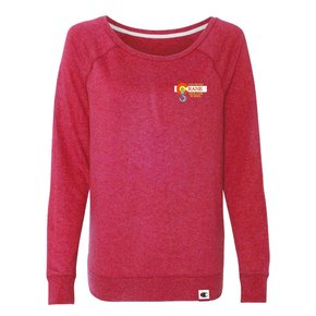 Champion Champion -  Women's French Terry Boat Neck Sweatshirt ( Carmine Red Heather )