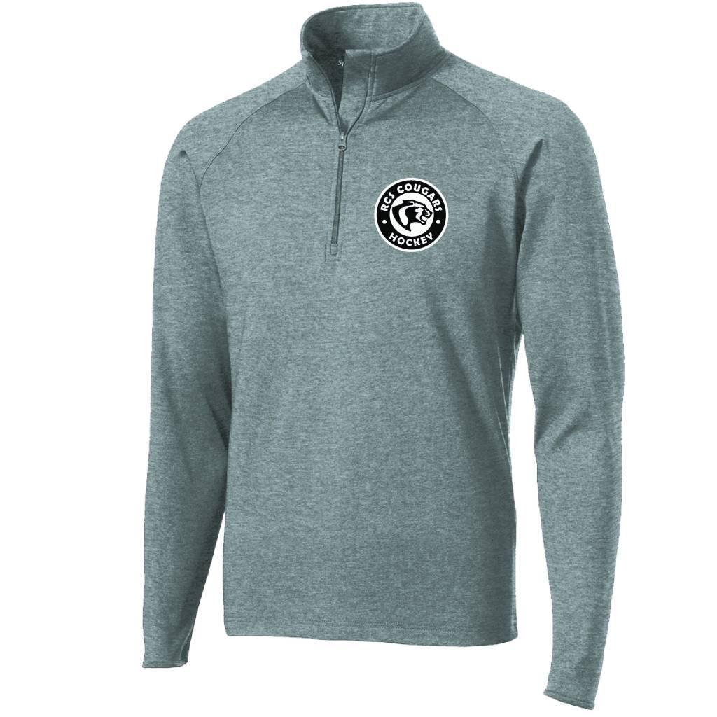 Sport Tek Sport-Tek® Sport-Wick® Stretch 1/2-Zip Pullover ( Charcoal Grey Heather )