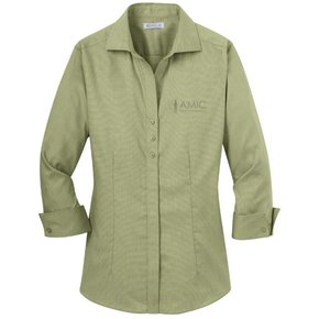 Red House Red House Ladies 3/4 Sleeve Non-Iron Shirt (Celery)