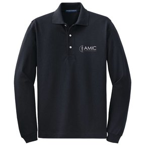 Port Authority Port Authority Long Sleeve Polo (Black)